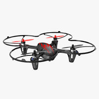 hubsan x4 h107c blackred 3D model
