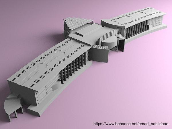 nile university print 3D model