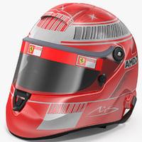 3D helmet michael schumacher 2007 model