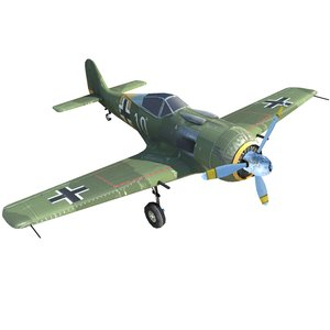 wwii aircraft fw-190 3D model