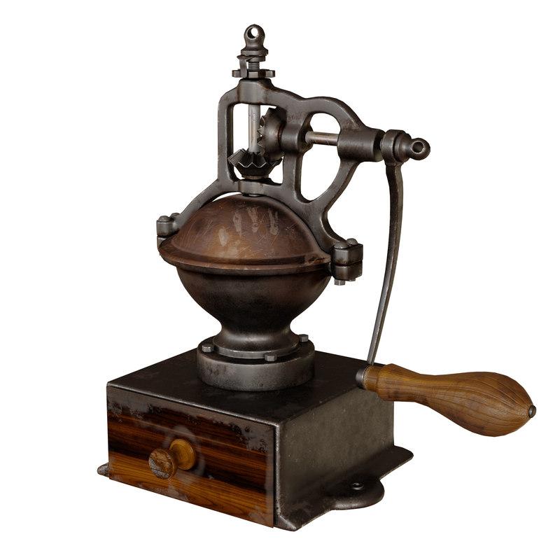 3D model vintage coffee grinder