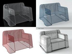 3D model ivy armchair