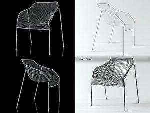 3D heaven stacking armchair 486 model