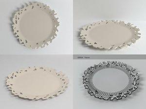 cutaway plate 3D model
