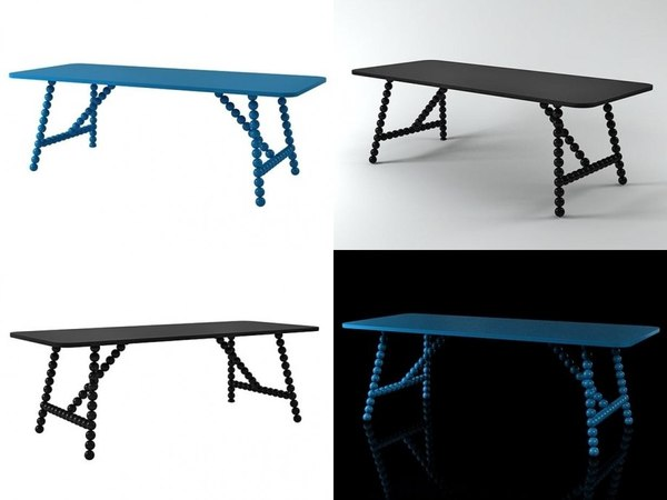 3D balls table