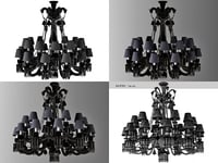 3D black zenith chandelier model