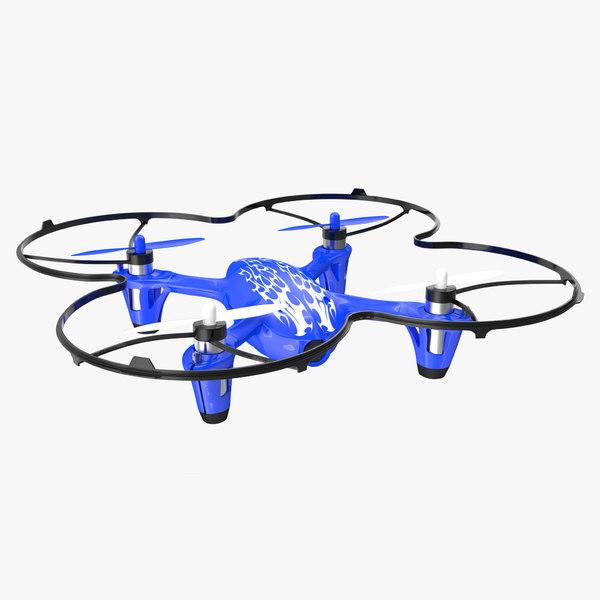 hubsan x4 h107c blue 3D model