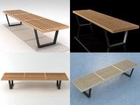 nelson bench 3D model