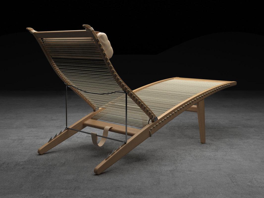 3D pp524 deckchair model
