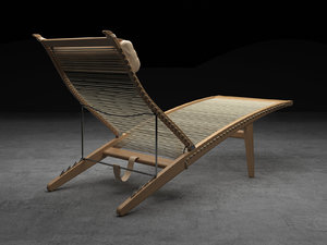 3D pp524 deckchair model