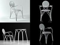 3D rain armchair