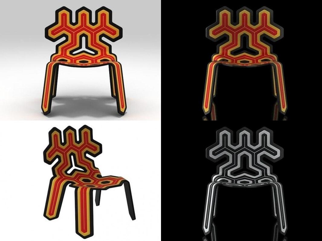 3D nanook chair