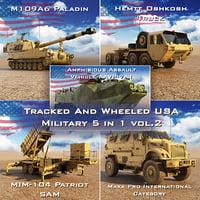 tracked wheeled usa military 3D model