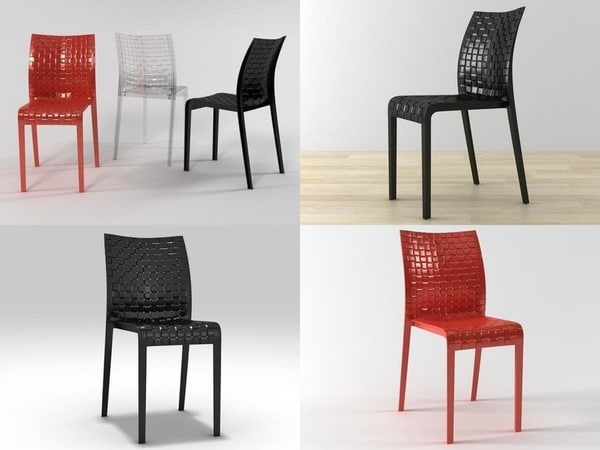 ami chair kartell 3D model