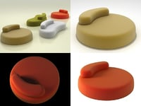 3D bubble rock sofa model