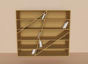books shelf 3D model