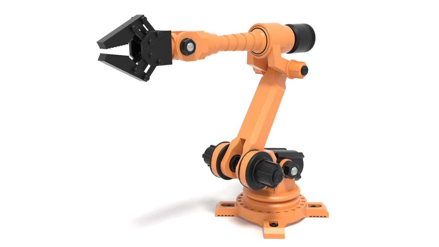 industrial robot arm 3D model