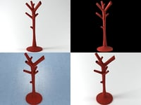 3D corallo coat hanger model