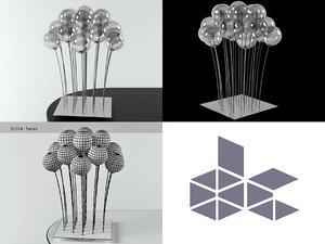 sphere table lamp 3D