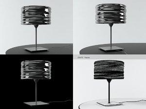 3D model aqua cil table lamp
