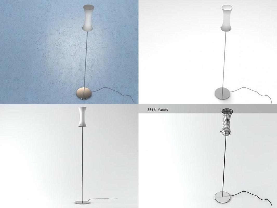 sax floor lamp 3D