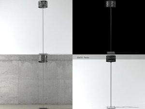 3D aqua cil floor lamp model