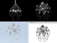 3D jellyfish chandelier prototype model