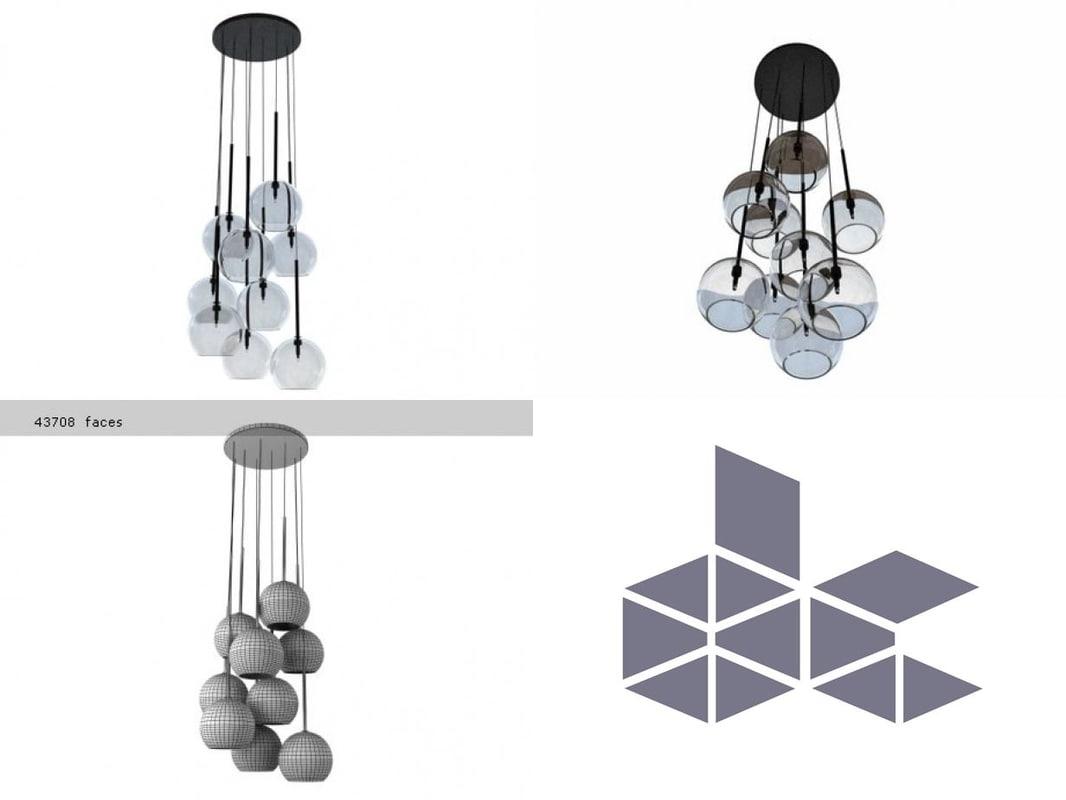 ice chandelier 3D model