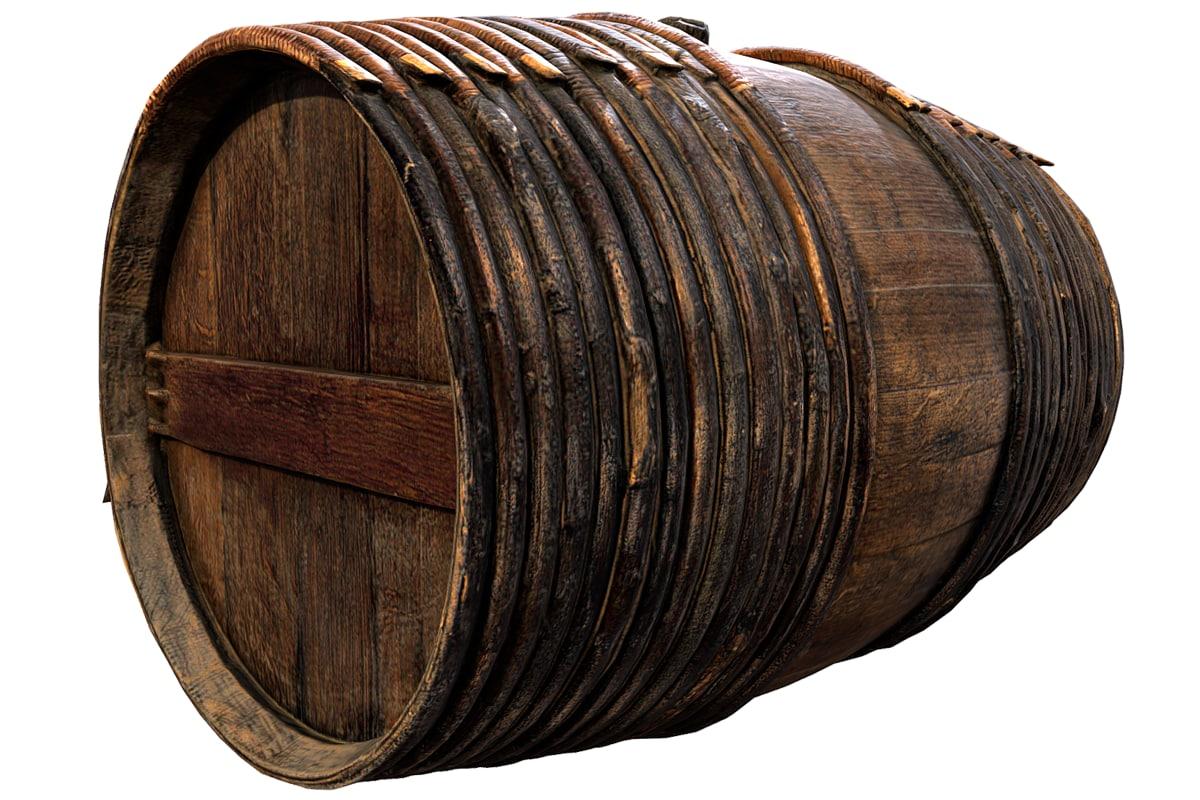 3D model photorealistic barrel
