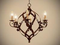 gramercy chandelier 3D model