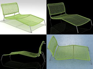 3D frog chaise model