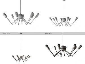 3D octopus single chandelier