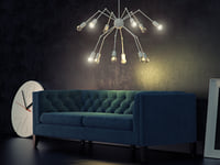 octopus double chandelier 3D
