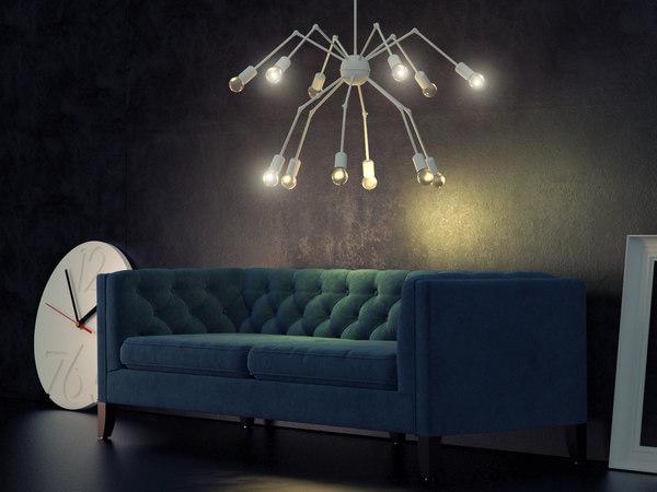 octopus double chandelier 3D