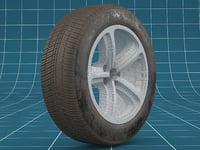 realistic car tire 3D model