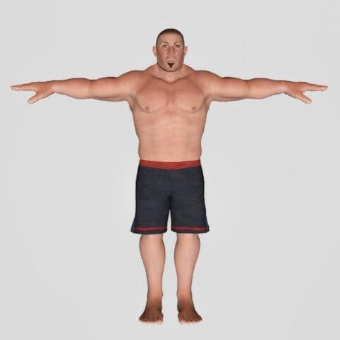 man muscular 3D model