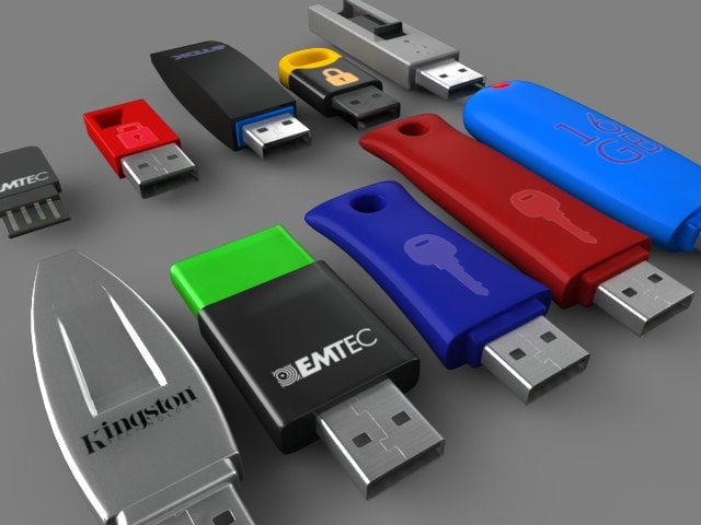 usb flash drives 3D model