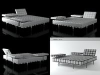 3D model privé bed