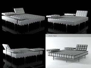 3D model privé bed