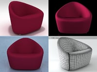 3D club armchair 1010