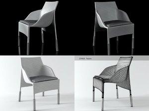 3D slim line armchair