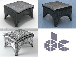 phoenix footstool 3D model