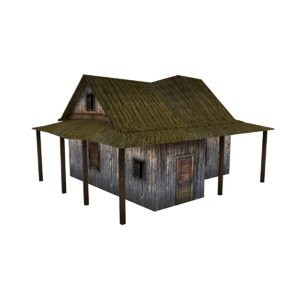 medieval house asset 3D