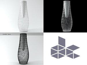 3D heaven vase 497