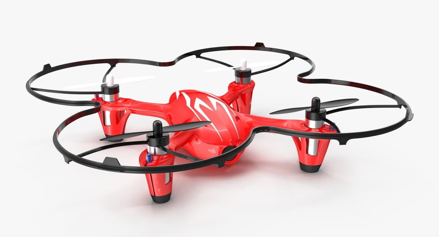 3D hubsan x4 h107c red