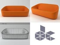 3D club sofa 1010