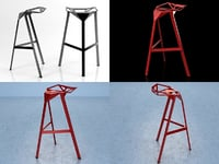3D stool magis model