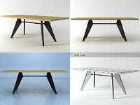 em table 3D model