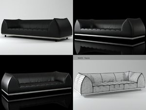3D vertigo sofa model