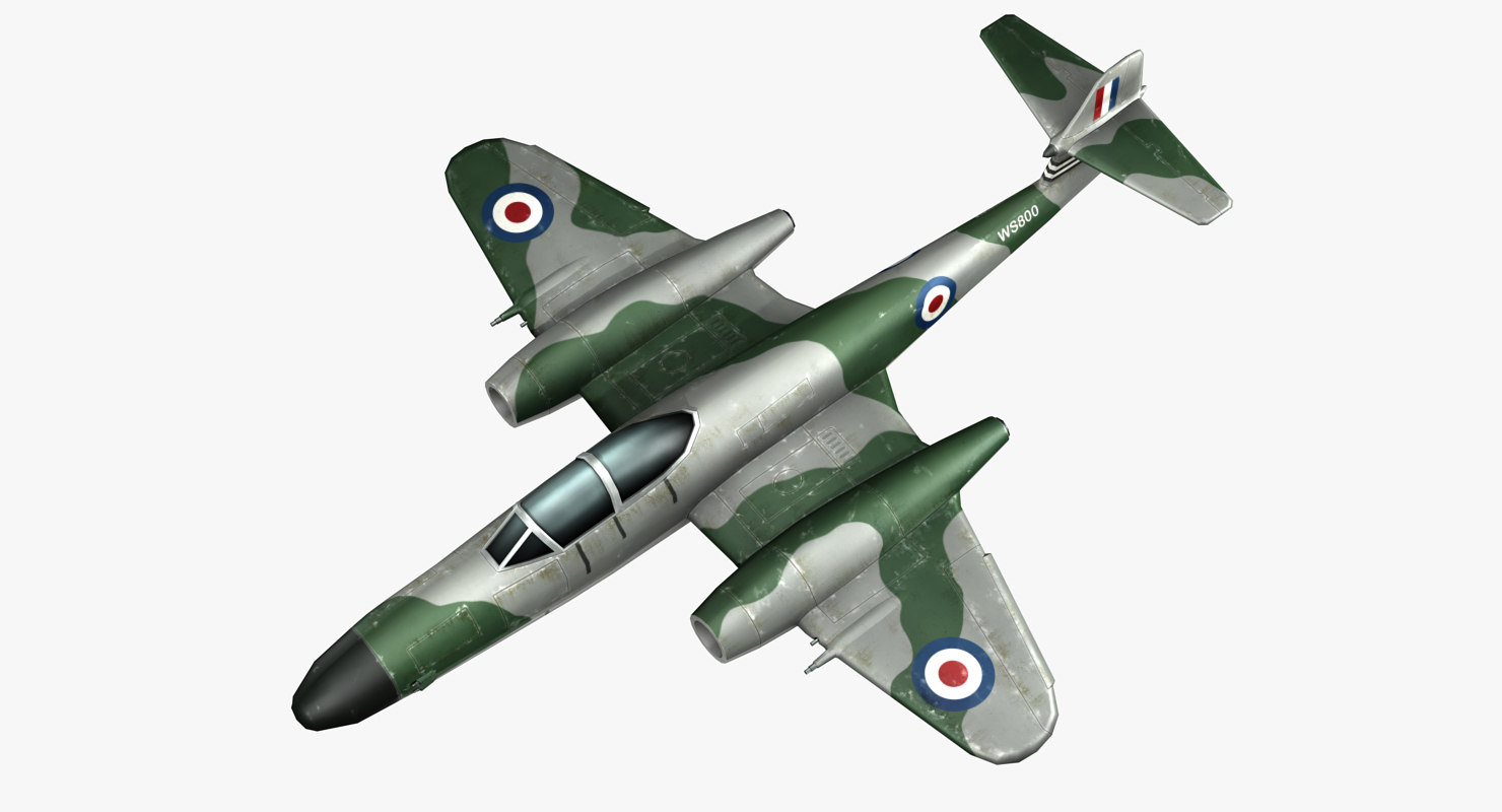gloster meteor fighters jet aircraft model